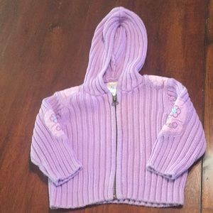 SALE $5 Old Navy lilac purple hooded sweater 3-6 m